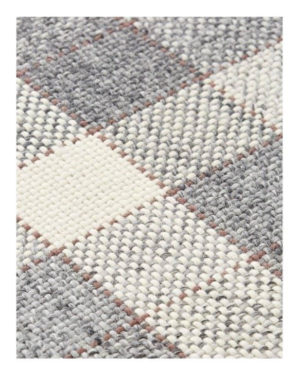 Dywan Gan Cuadros Grey-Rust