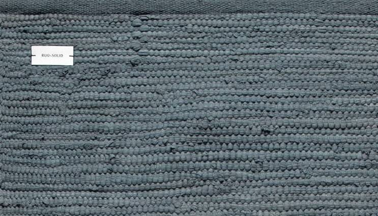 Dywan Rug Solid Cotton Rug Steel Grey