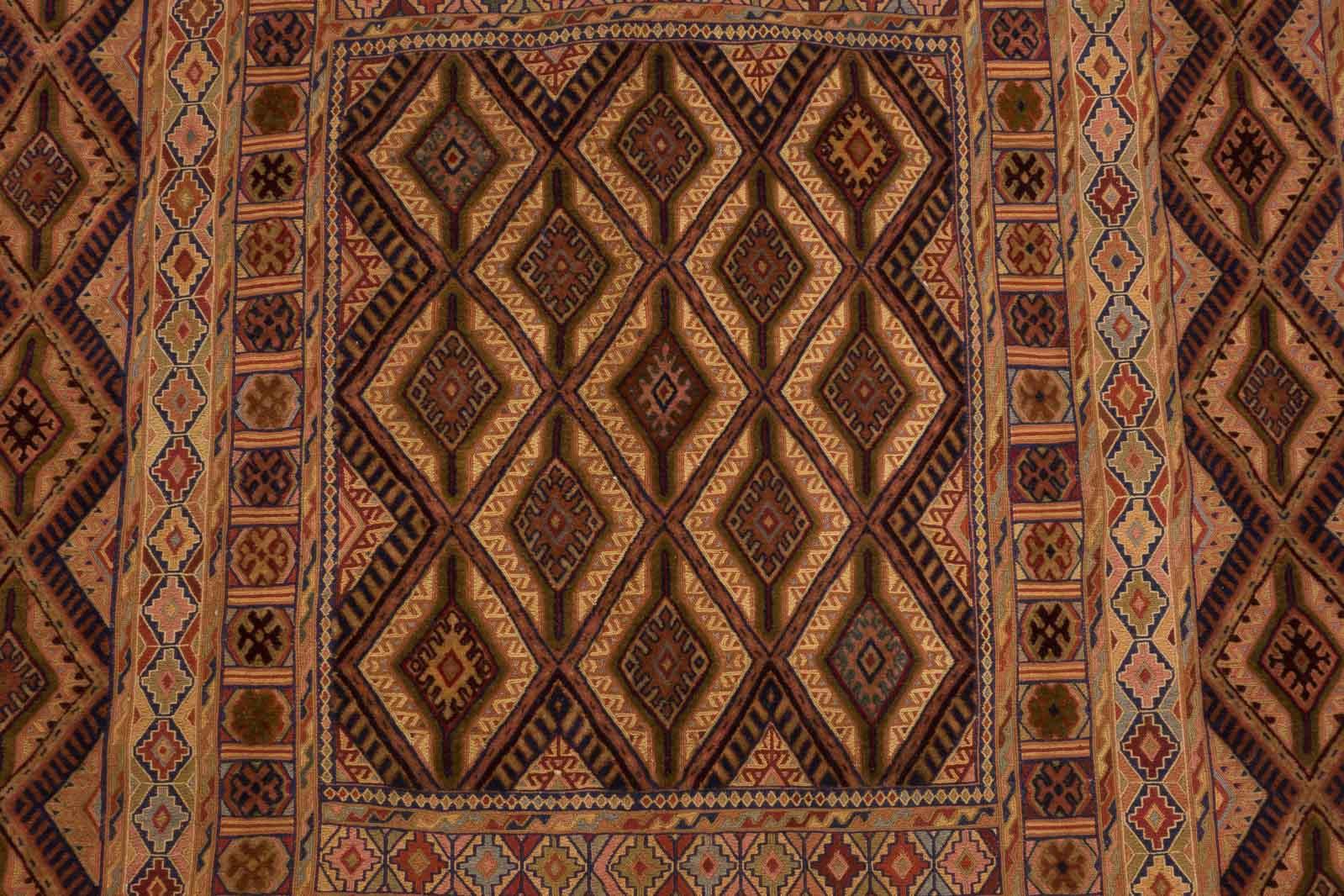 Dywan Wełniany Afghan Unique Kelim 146 x 180 39102