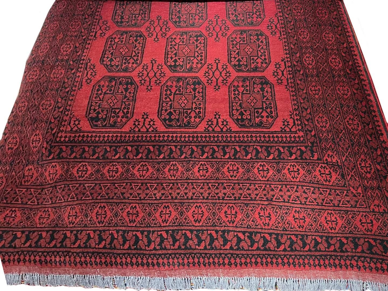 Dywan Wełniany Afhan Agha Red 200 x 300